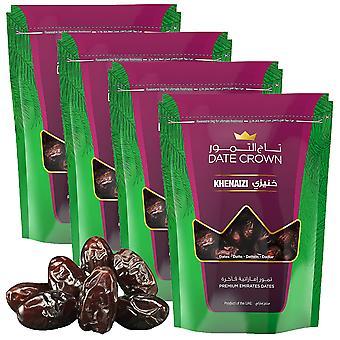4 x 250g Primium Emirates Datteln Trockenfrüchte Süßer natürlicher Snack Eisen Vitamin B Ballaststoffe Fettarm