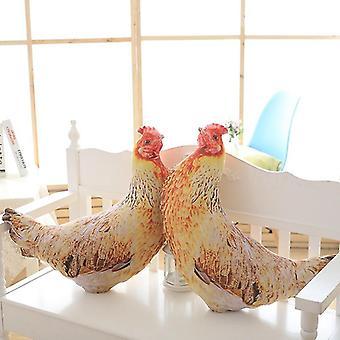 Venalisa Creative Simulation Old Hen Peluche Toy Pillow, Native Chicken Office Lunch Break Pillow Pillow, Mascotte de coq