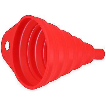 Entonnoir pliable en silicone pour bocaux, grand pot de conserve pliable