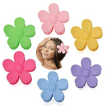 Flower Claw Clip 6 Pcs Hair Styling Accessories For Women Girls Flower Hair Clip