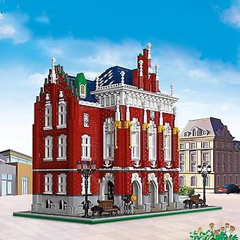 University Model Building Blocks City Street View School Construction Bricks Toys For Kids