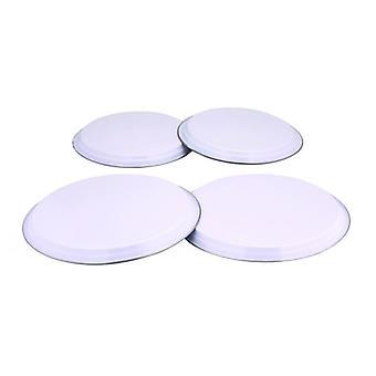 COULEURS 4pc gaz électrique table de cuisson cuisinière couverture définie en acier inoxydable - blanc