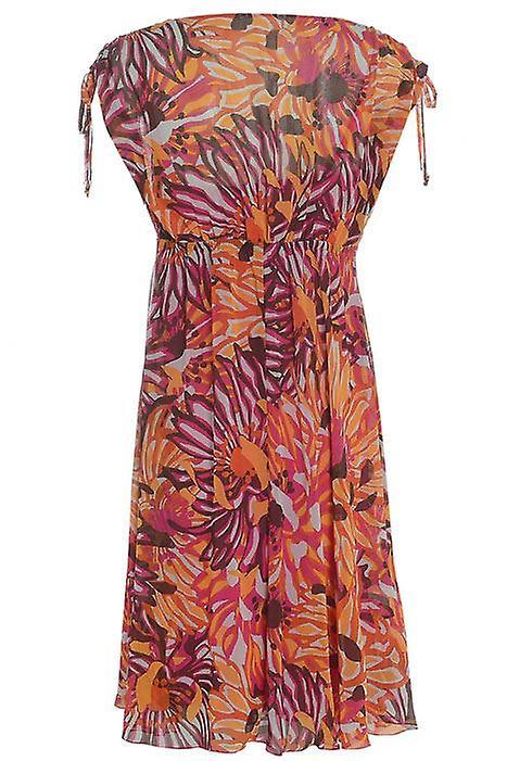 م & الشيفون الأزهار S فستان DR770-6