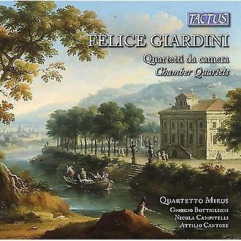 Giardini / Quartetto Mirus - Felicve Giardini: Chamber Quartets [CD] USA import