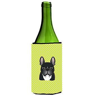 لوح شطرنج الجير الأخضر الفرنسية البلدغ زجاجة النبيذ المشروبات عازل نعالها