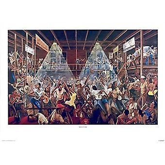 Yöelämästä Studio (S) Juliste Tulosta Ernest Watson (33 x 24)