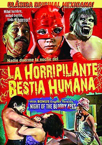 Night of the Bloody Apes (La Horripilante Bestia [DVD] USA import