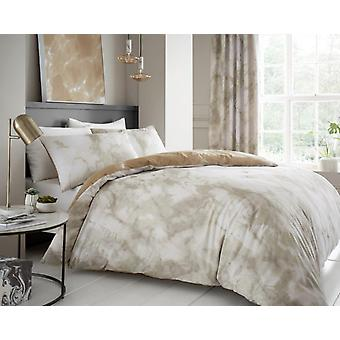 Marbel Effect Duvet Quilt Cover Polycotton Printed Bedding Set