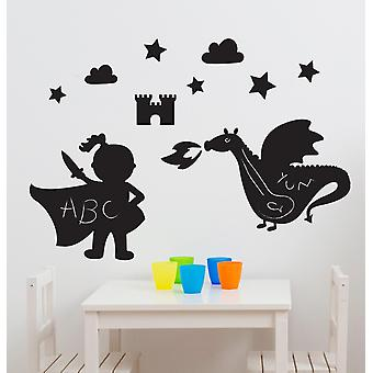 Suncrest FunToSee Magic Dragon Kingdon 11 Chalkboard Wall Stickers