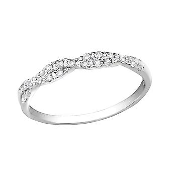 Braid - 925 Sterling Silver Cubic Zirconia Rings - W30552x