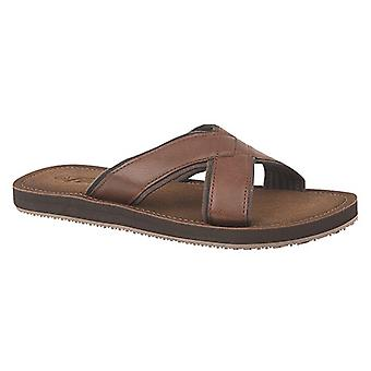 PDQ Mens Lightweight Crossover Mule Sandals