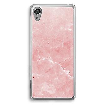 Sony Xperia XA1 przezroczyste etui (Soft) - różowego marmuru