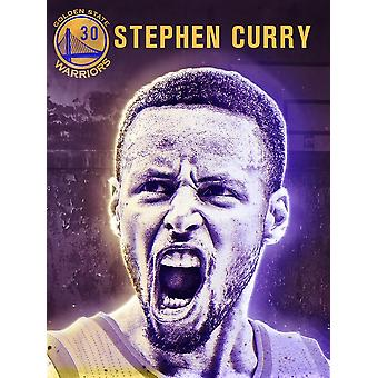 Stephen Curry Poster Golden State Warriors Basketball-Kunstdruck/Poster (18 x 24)