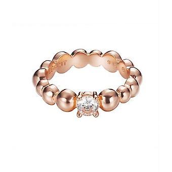 Solitario de Circonita ESPRIT mujer anillo plata rosado de pellets ESRG92321C1