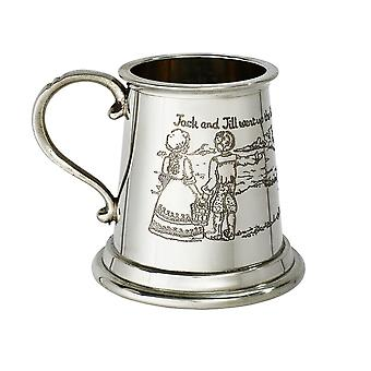 Jack And Jill Pewter Baby Quarter Pint Mug