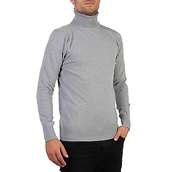 KRISP Hommes Polo Turtle Roll Neck Jumper Cotton Knitwear Pull Top Pullover