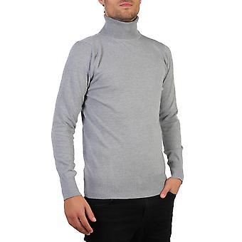 KRISP Herre Polo skildpadde rulle hals jumper bomuld strik sweater vinter pullover top