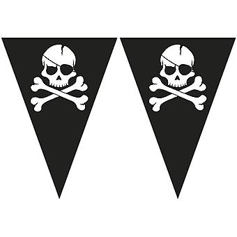 Pirates black skull pirate skull and crossbones party Garland banner 1 piece children birthday theme party