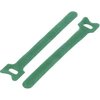 KSS MGT-135GN Hook-and-loop cable tie for bundling Hook and loop pad (L x W) 135 mm x 12 mm Green 1 pc(s)