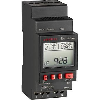 Müller SC 18.13 einfach NFC DIN Rail Mount Timer 230 V 16 A/250 V