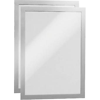 Durable 487223 DURAFRAME A4 - 4872 Ad frame (self-adhesive) A4 Silver (W x H) 236 mm x 322 mm 2 pc(s)