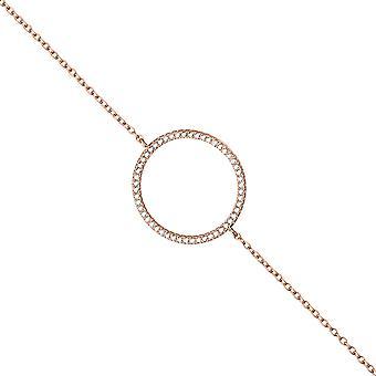 ブレスレット 925 純銀製金メッキ 21 cm 52 キュービックジルコニア