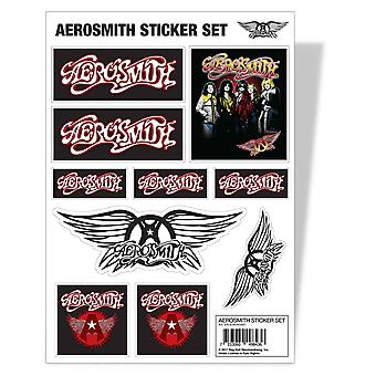 Aerosmith Sticker Sheet Flying A Classic Band Logo new Official A4 set