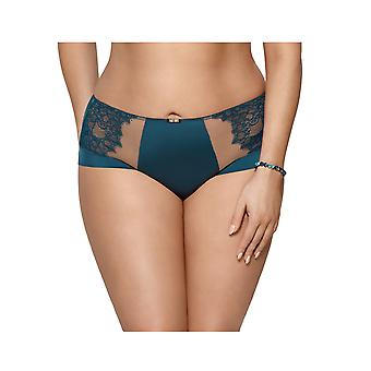 Gorsenia K455 Women's Rebecca Marine Blue Floral Lace Knickers Panty Full Brief