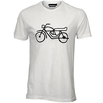French Connection Motorbike Crew-Neck T-Shirt, White/navy