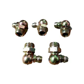 Big A Service Line 3-688000 Hydraulic Grease Brass Fittings 10mm x 19.7mm 5 Pcs