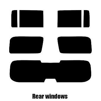 Pre cut fönstret nyans - Hummer H3 - 2006 till 2010 - bakre windows