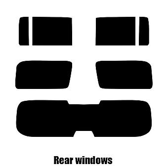 Pre cut window tint - Hummer H3 - 2006 to 2010 - Rear windows