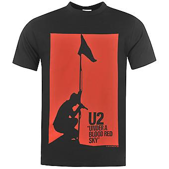 U2 de Mens officiel T Shirt coton imprimer Casual Summer Short Sleeve Crew Neck Tee