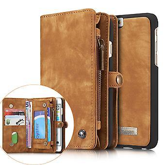 CASEME iPhone 6s 6 Retro Split leather wallet Case-brown