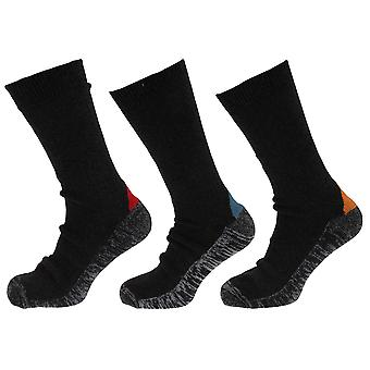 Mens Wool Blend Functional Work Socks (3 Pairs)