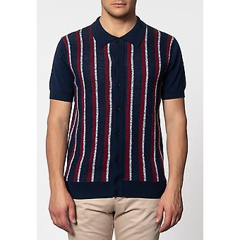 Merc WILMOT, rayures verticales knit polo
