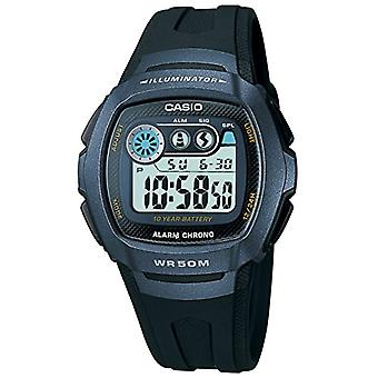 Casio quartz digital watch with black resin strap W-210-1BVES