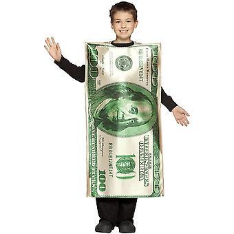 100$ Bill kind kostuum