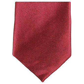 Knightsbridge Neckwear Slim Polyester Tie - Dark Red