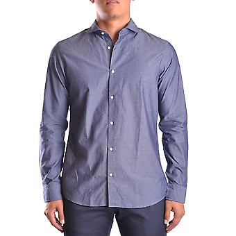 Michael Kors Ezbc063004 Men's Blue Cotton Shirt