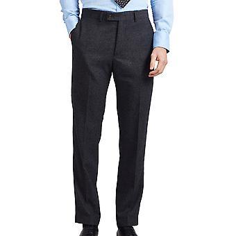 Dobell Mens grau Donegal Tweed Hose Regular-Fit