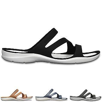 Dame Crocs Swiftwater Sandal Lightweight stranden havet sommer skåret ud skoen