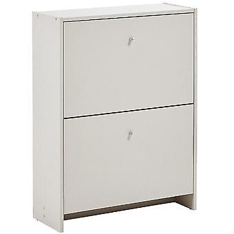 Semplice - 2 Pull-down cassetto corridoio 8 coppia archiviazione scarpiera - Putty