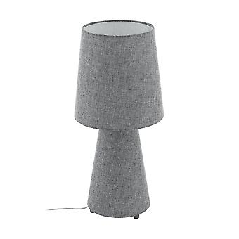Eglo Carpara 470 lampe de Table en lin gris