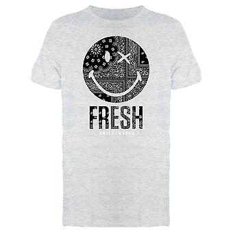 SmileyWorld Fresh Bandana Pattern Winking Face Men's T-shirt