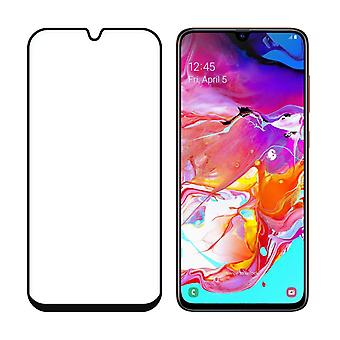 Solid tempered glass Samsung Galaxy A70 Screen Protector black