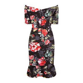 Paper Dolls Womens/Ladies Bardot Print Bodycon Dress