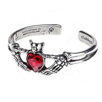 Alchemy Gothic Claddagh By Night Pewter Bracelet