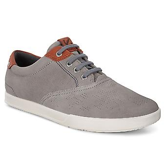 Ecco Mens Collin 2.0 Bukhura Leather Lightweight Breathable Trainers Shoes