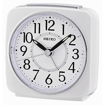 Seiko Beep Alarm Clock with Snooze - White (QHE140W)